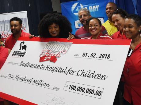 Shaggy's Foundation Presents $100m Cheque To Bustamante Hospital For Children