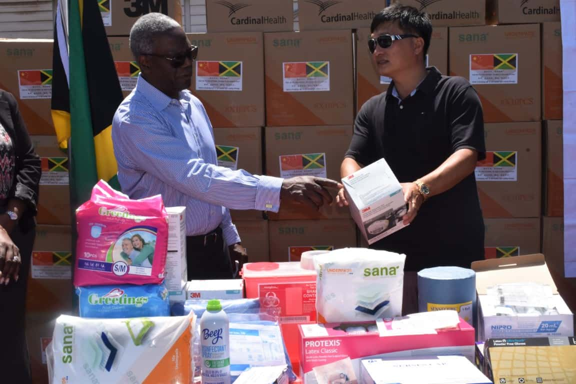 KPH Receives PPE from Jamaica's Chinese Community
